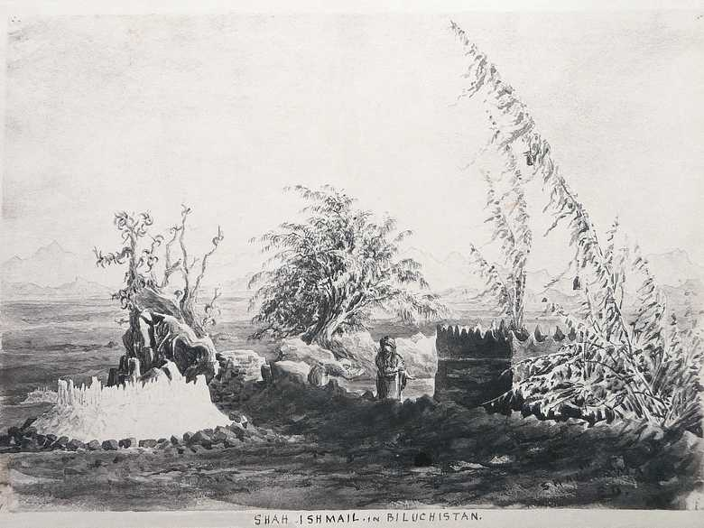 The same place on  a sketch by Edward Law Durand, ELD 008.